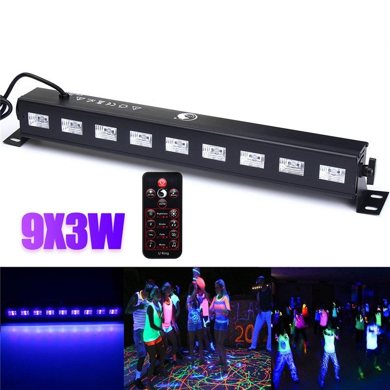 27W Wall Washer LED UV Stage Light Bar Black Disco Blacklight Lamp For DJ Party Christmas Decoration