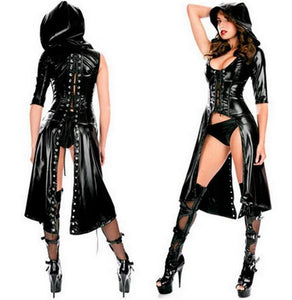 Gothic Punk Fetish Black Latex Catsuit
