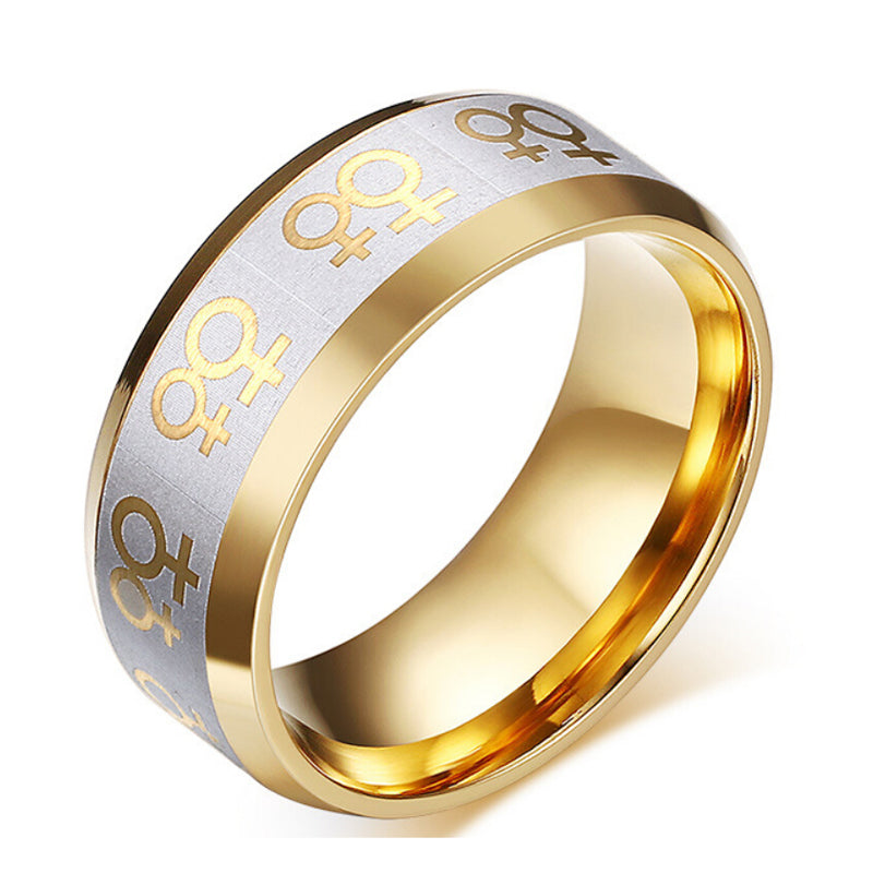pride ring double female symbol
