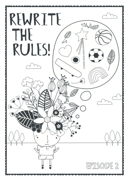 podcast episode 5 colouring sheet