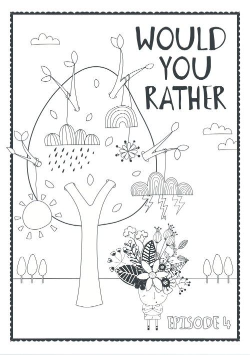 podcast episode 4 colouring sheet