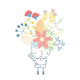 flower dude with tooth brush