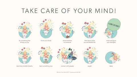take care of your mind poster