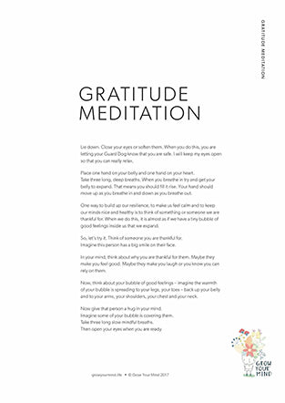 script for a gratitude meditation you can do with your children