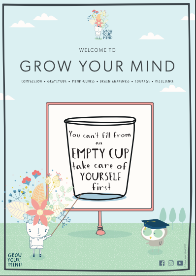 Flyer for schools about Grow Your Mind