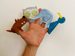 Animal Character finger puppets