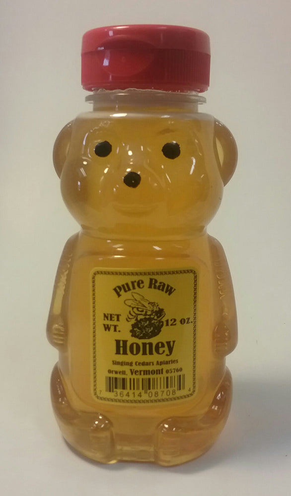 Pure Vermont Raw Honey -12oz Bear