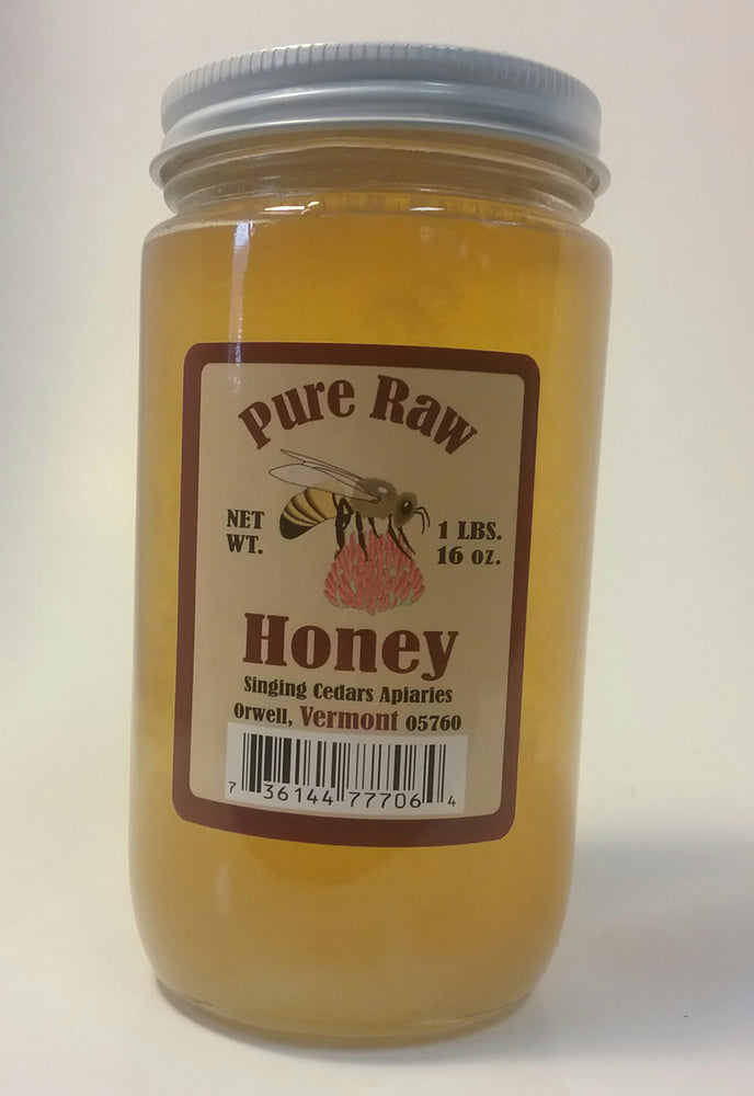 Pure Vermont Raw Honey - 1lb jar