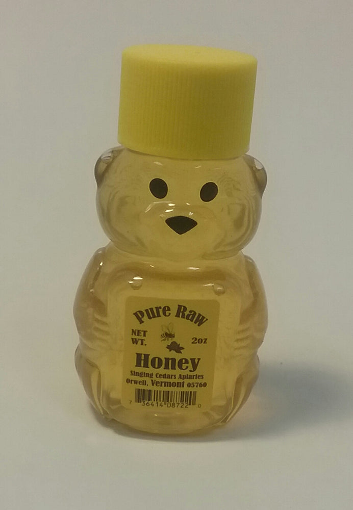 Pure Vermont Raw Honey - 2oz Bear