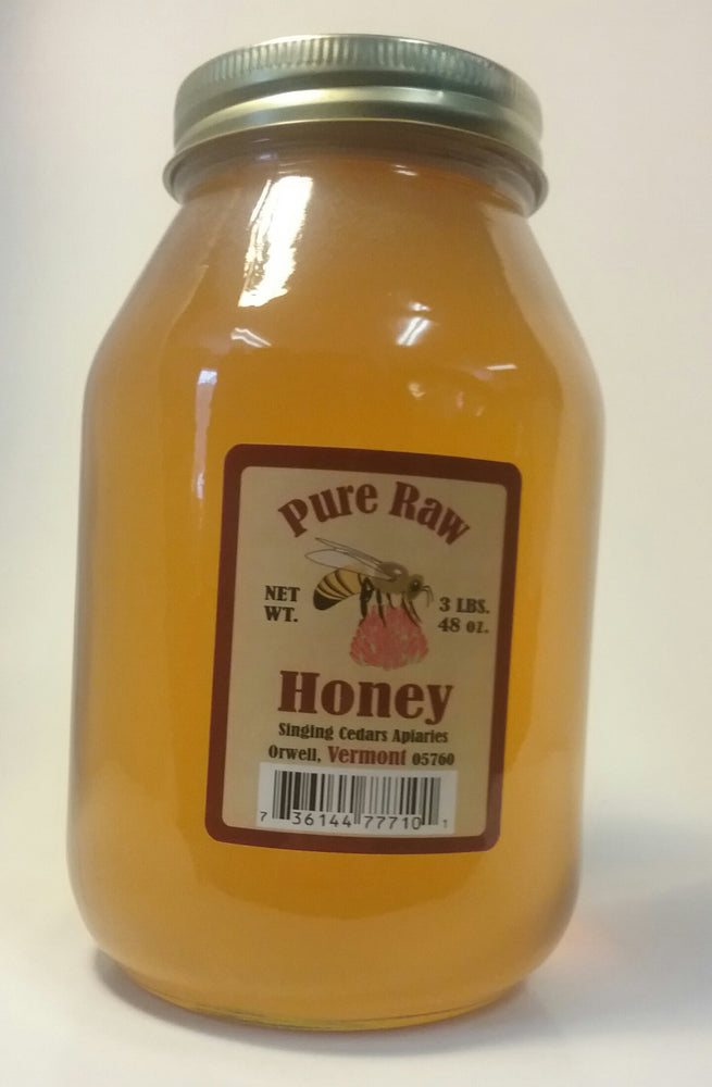 Pure Vermont Raw Honey - 3lb jar