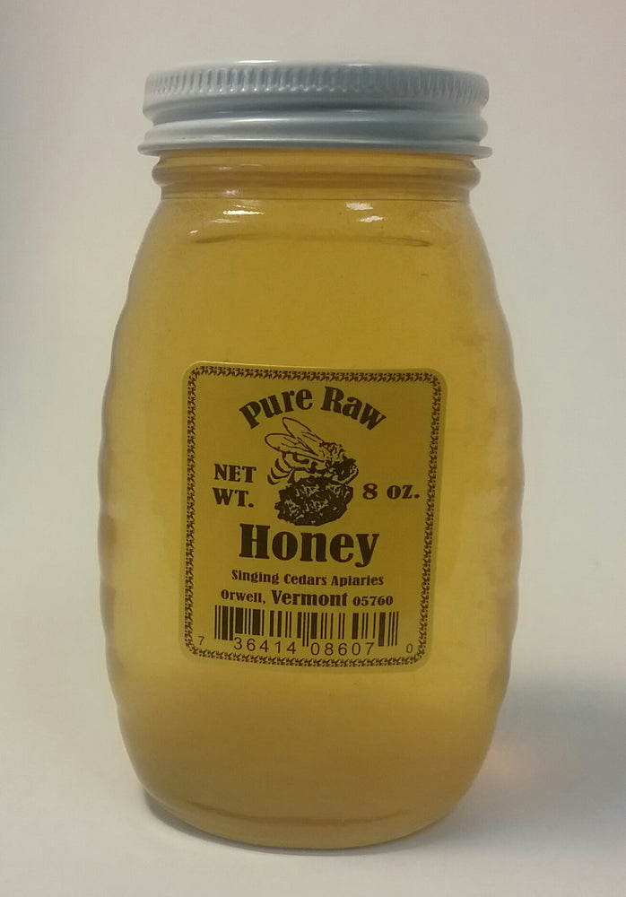 Pure Vermont Raw Honey - 8 oz jar