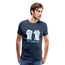 Men's Premium T-Shirt-Best Team Ever Cat - navy