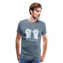Men's Premium T-Shirt-Best Team Ever Cat - steel blue