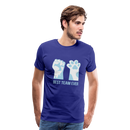 Men's Premium T-Shirt-Best Team Ever Cat - royal blue