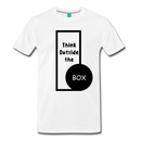 Men's Premium T-Shirt - Think outside the box - white