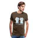 Men's Premium T-Shirt-Best Team Ever Cat - noble brown