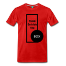 Men's Premium T-Shirt - Think outside the box - red