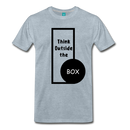 Men's Premium T-Shirt - Think outside the box - heather ice blue