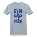 Men's Premium T-Shirt-Wolf Gym Pack - heather ice blue