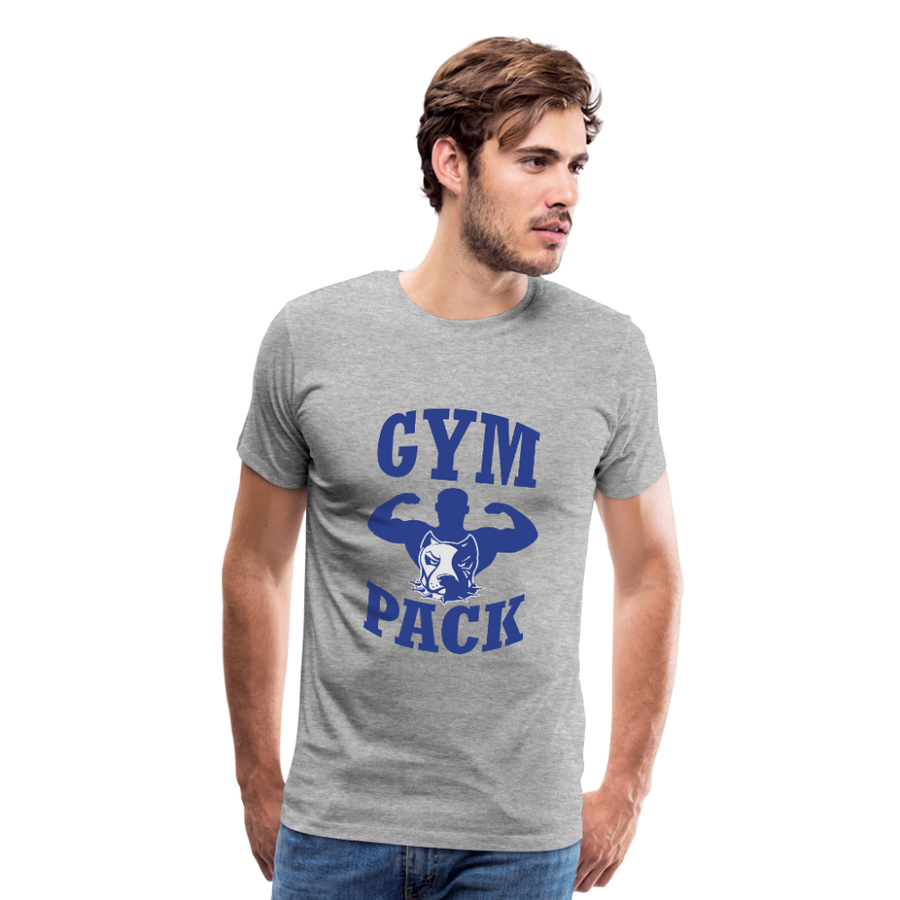 Men's Premium T-Shirt-Wolf Gym Pack - heather gray