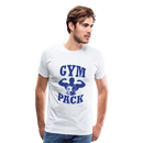 Men's Premium T-Shirt-Wolf Gym Pack - white