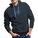 Men's Premium Hoodie-My heart beats for my dog - navy