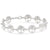 18K White Gold Plated Tree of Life Circular Design Classic Bracelet - InspoArt