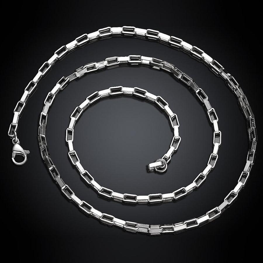 Stainless Steel 2.5mm Box Chain Necklace