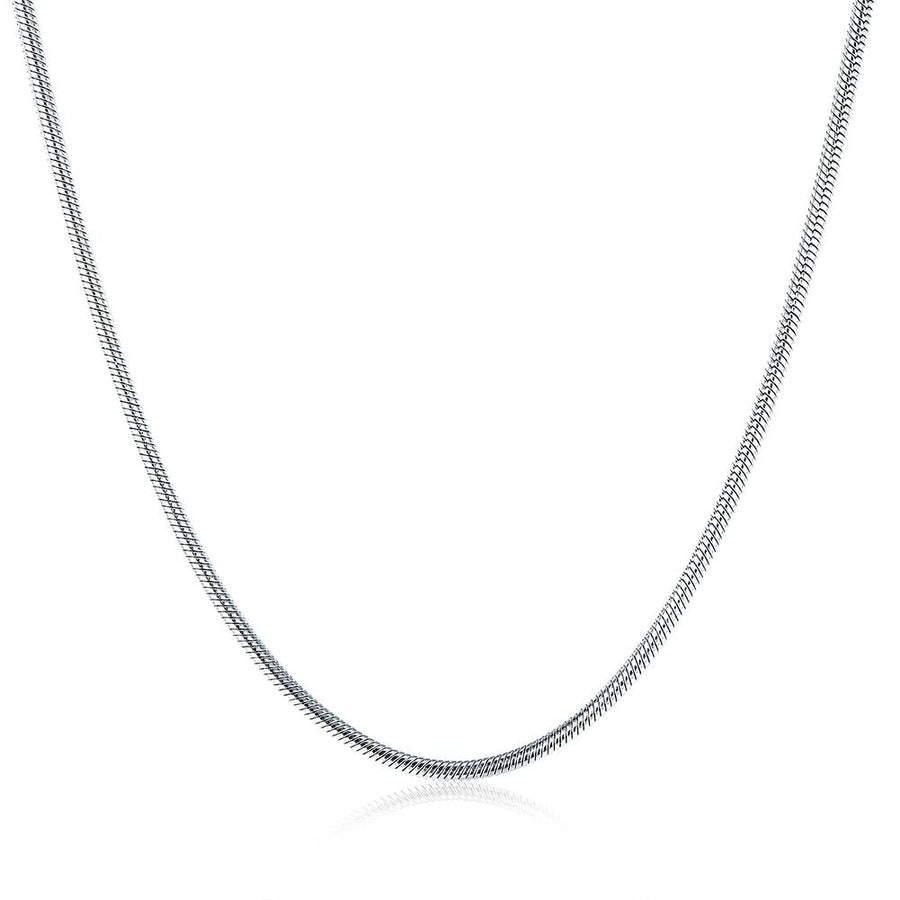 Stainless Steel Smooth Snake Chain Necklace
