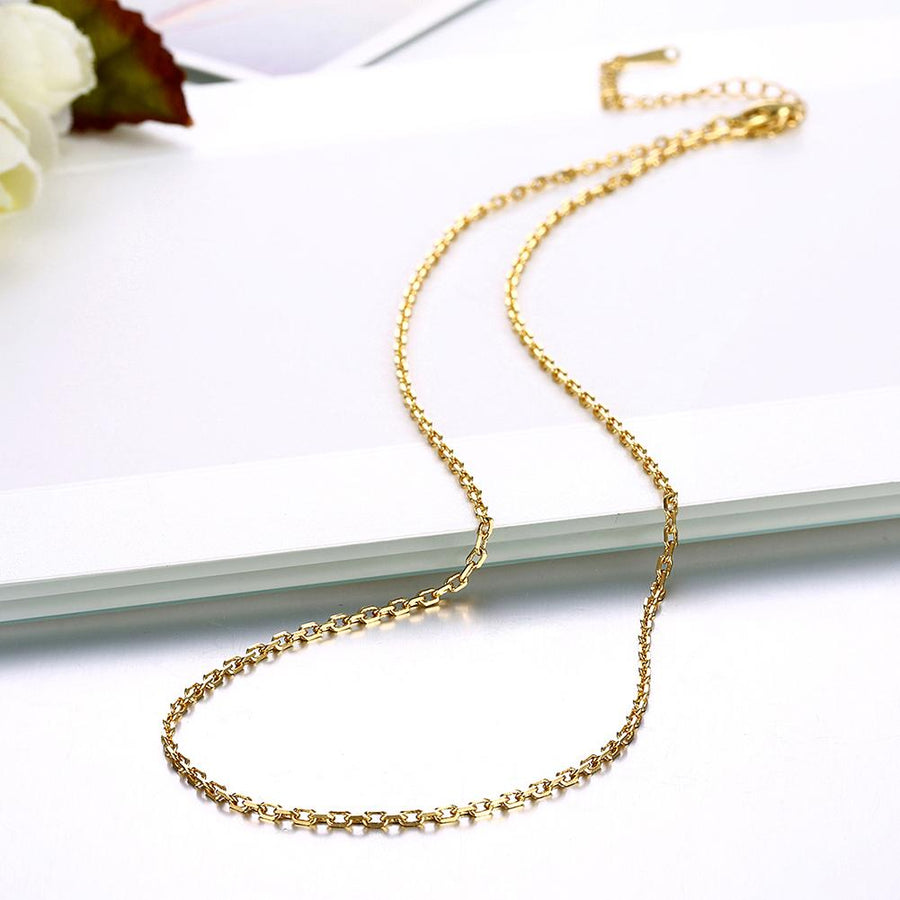 18K Gold Plated Sleek Link Chain Necklace - InspoArt