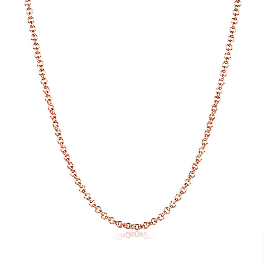 18K Rose Gold Plated Sleek Link Chain Necklace - InspoArt