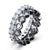 Duo Swarovski Elements Band Rings - InspoArt