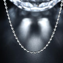 18K White Gold Plated  Sleek Ball Beaded Chain Necklace - InspoArt