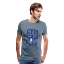 Men's Premium T-Shirt-Wolf Gym Pack - steel blue
