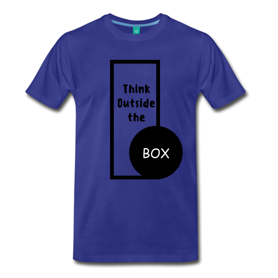 Men's Premium T-Shirt - Think outside the box - royal blue