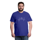 Men's Premium T-Shirt-My heart beats for my dog - royal blue
