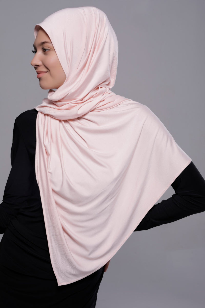 HIJAB PREMIUM JERSEY STRETCHY ROSE CLAIR