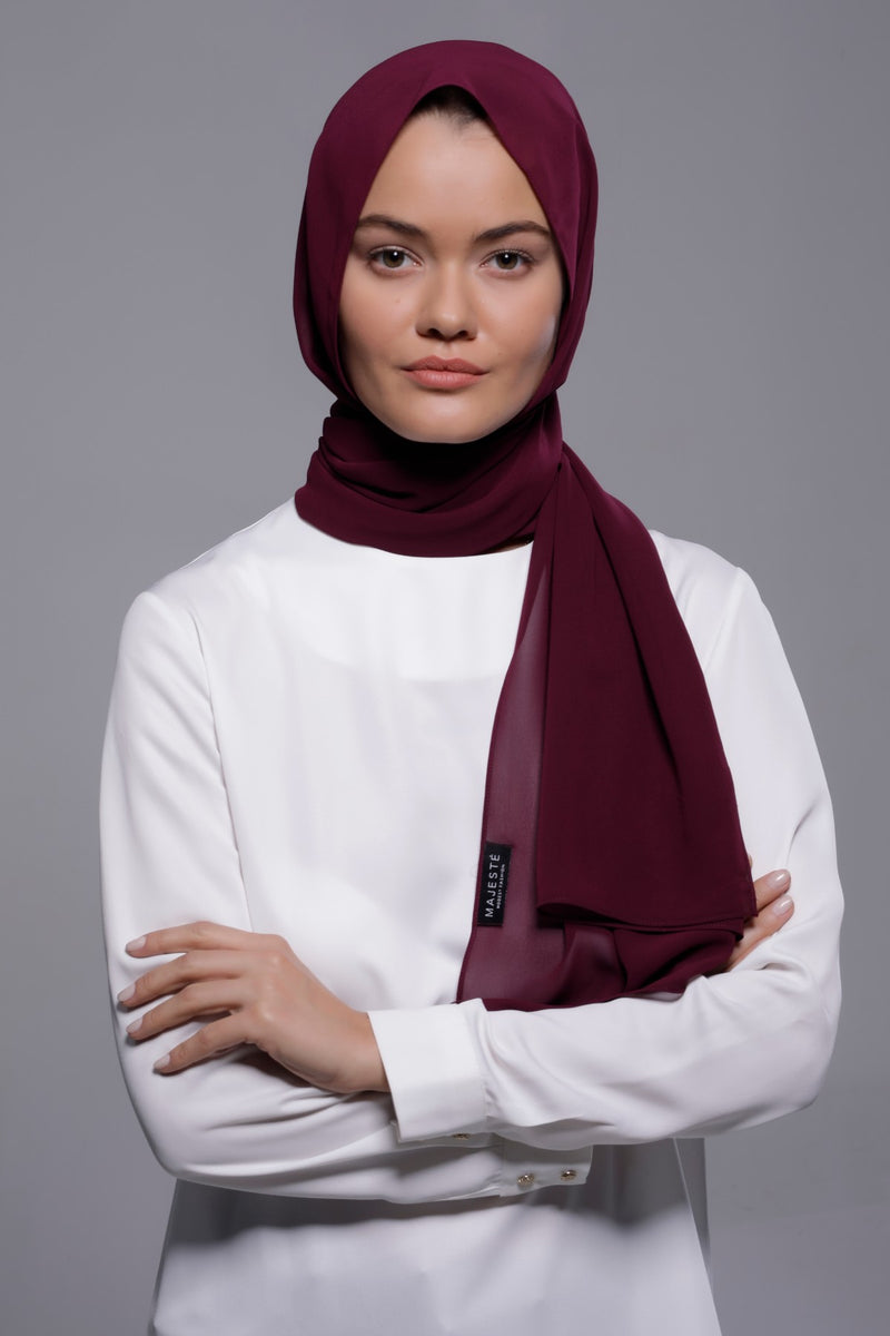 HIJAB MOUSSELINE LUXURY POURPRE