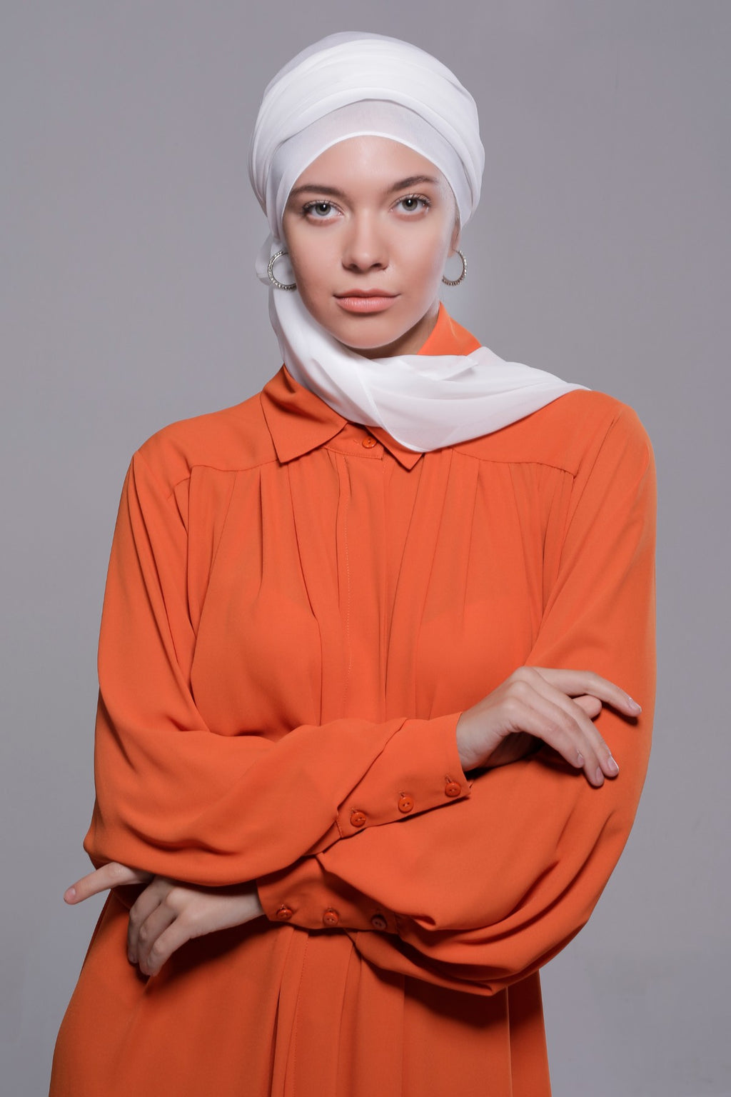 HIJAB MOUSSELINE LUXURY BLANC NEIGE