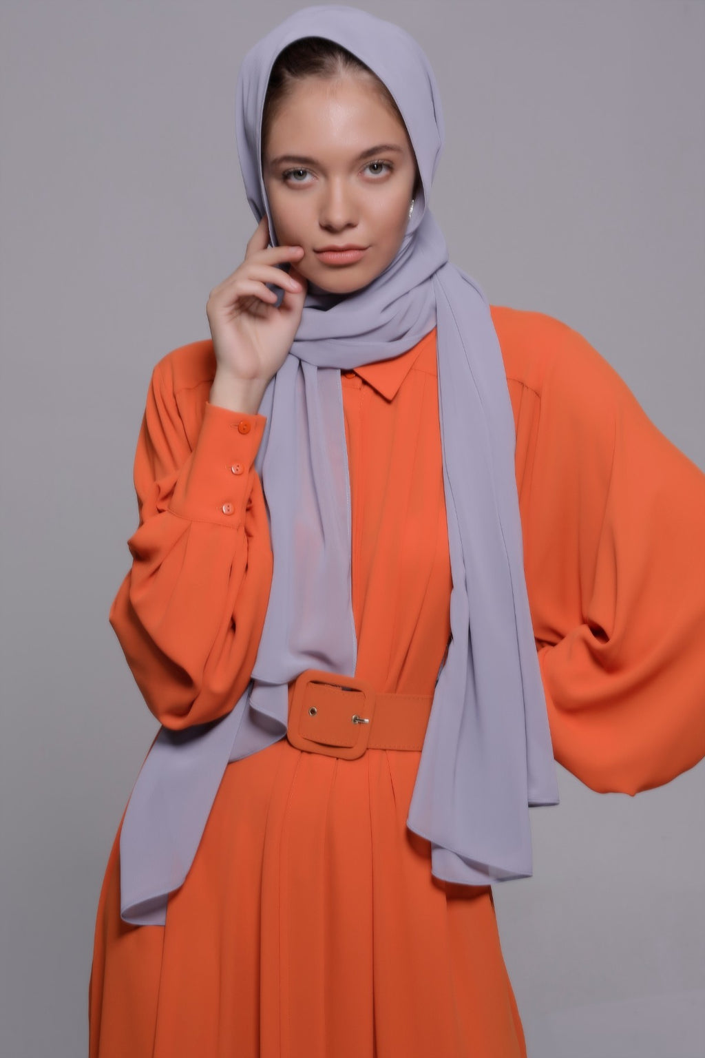 HIJAB MOUSSELINE LUXURY GRIS CITY