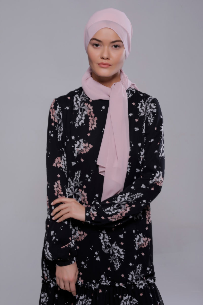 HIJAB MOUSSELINE LUXURY LUNE ROSE