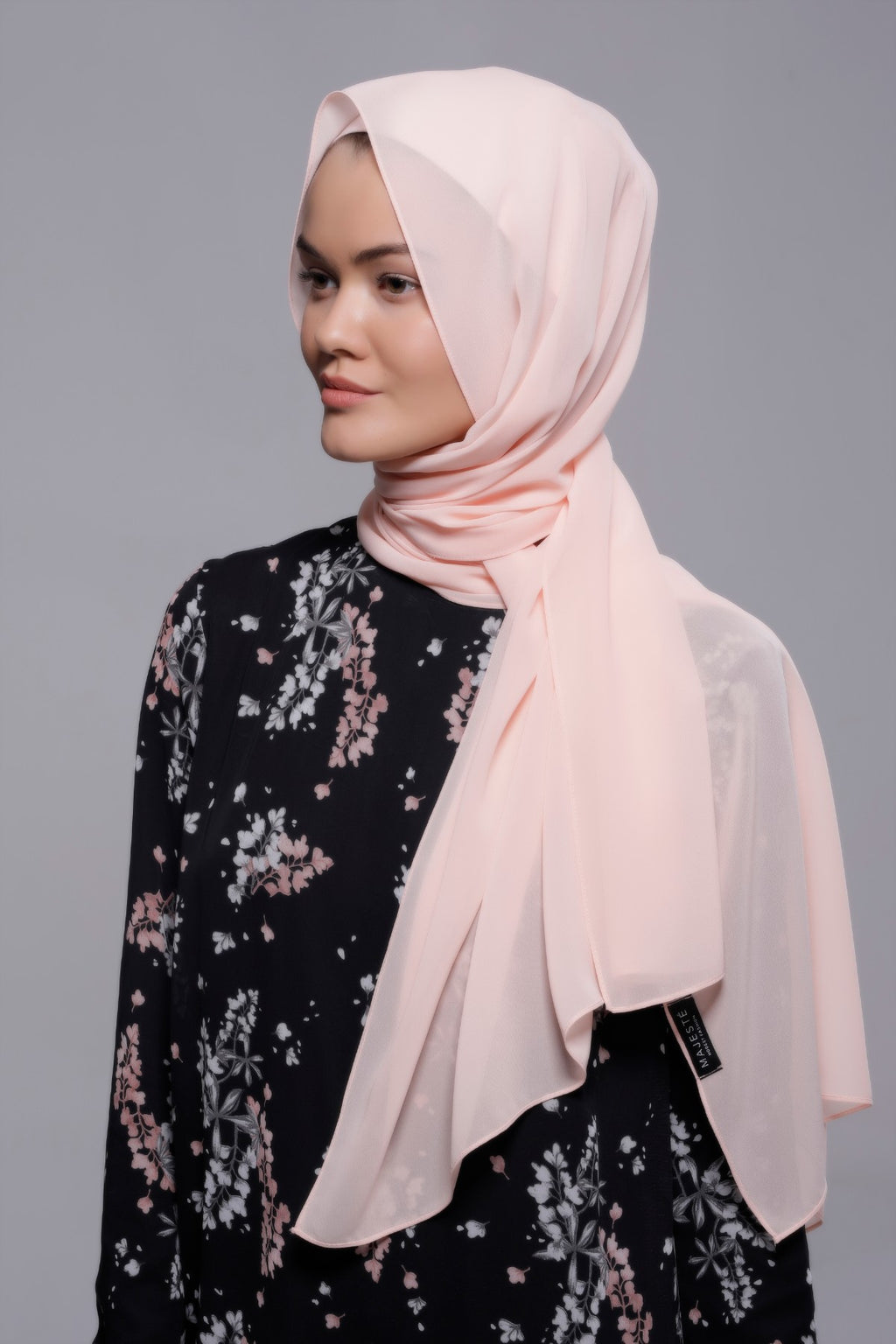 HIJAB MOUSSELINE LUXURY ROSE CALCITE