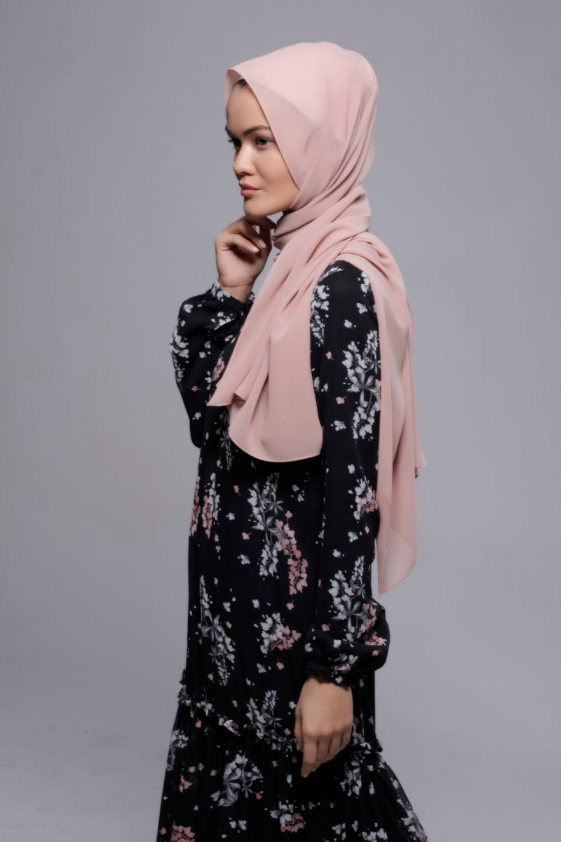 HIJAB MOUSSELINE LUXURY ROSE PASTILLA