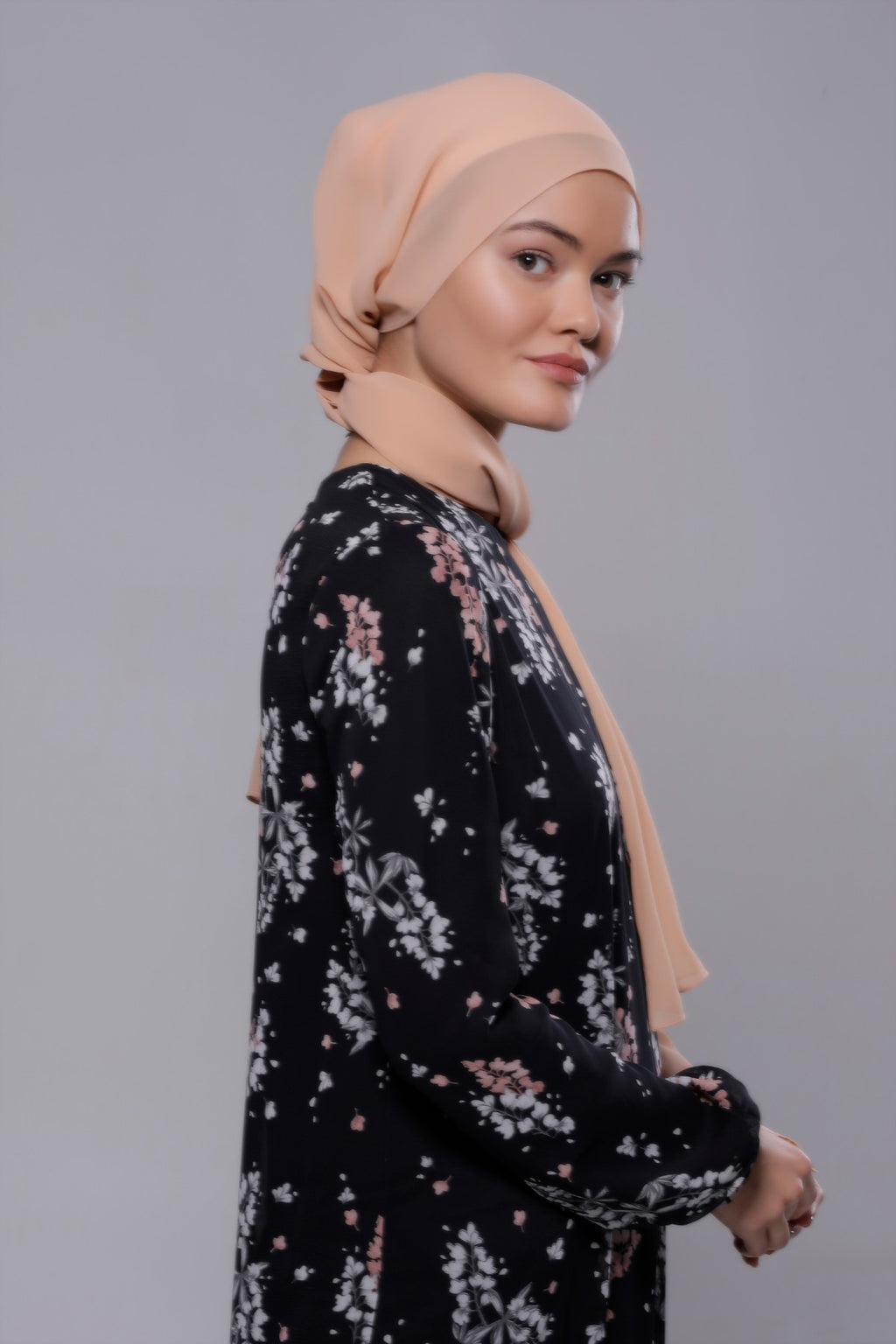 HIJAB MOUSSELINE LUXURY BEIGE ÉCAILLE
