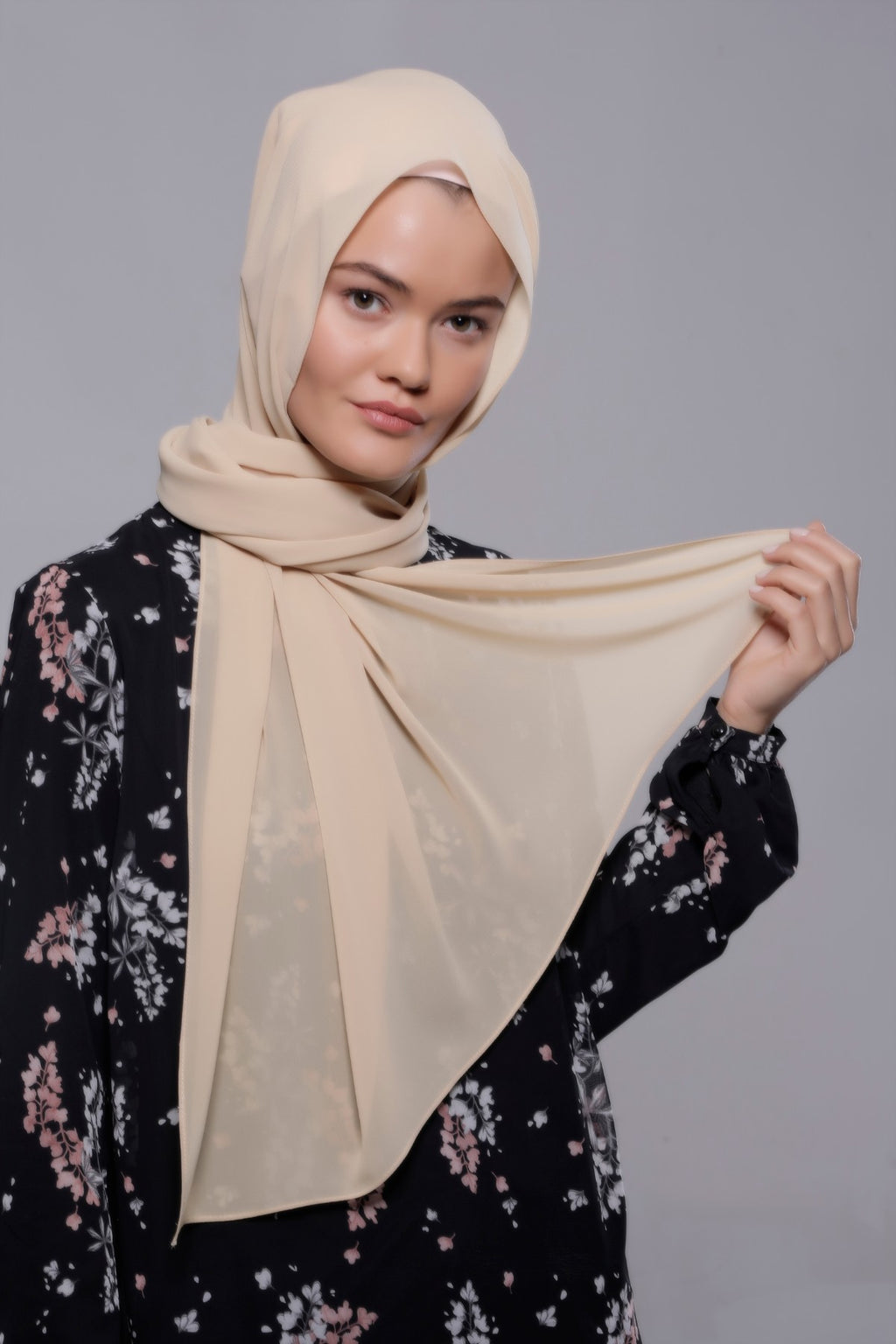 HIJAB MOUSSELINE LUXURY BEIGE