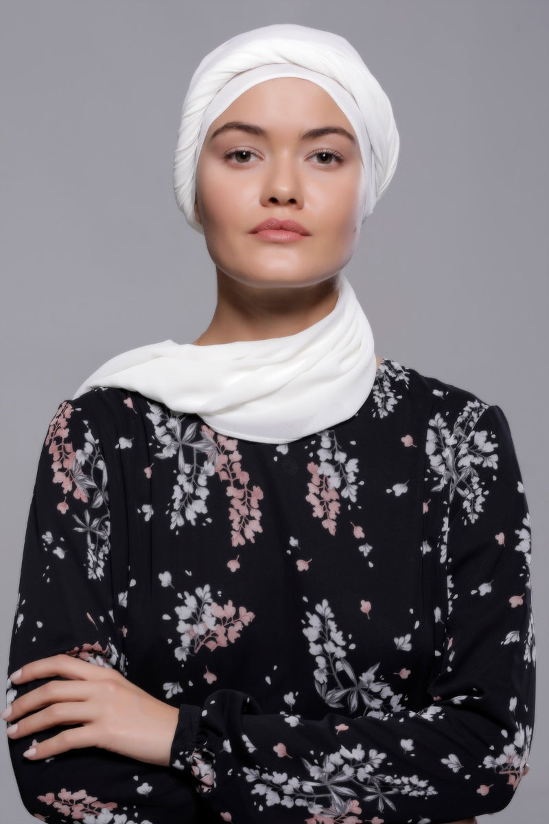 HIJAB MOUSSELINE QUEEN BLANC