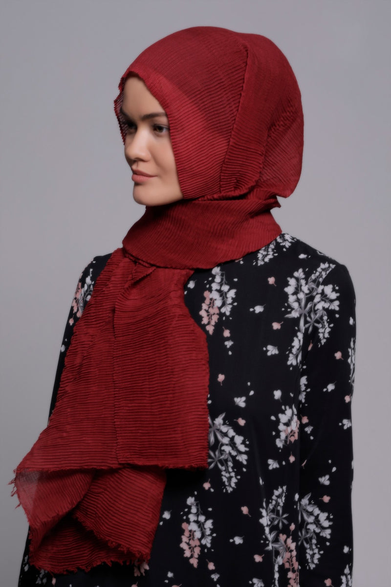 HIJAB SOFT CRINKLE BORDEAUX