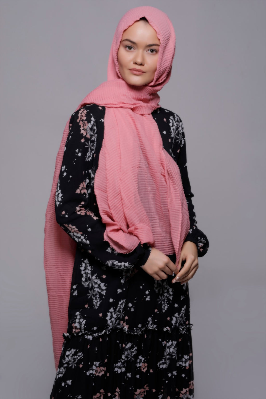 HIJAB SOFT CRINKLE ROSE