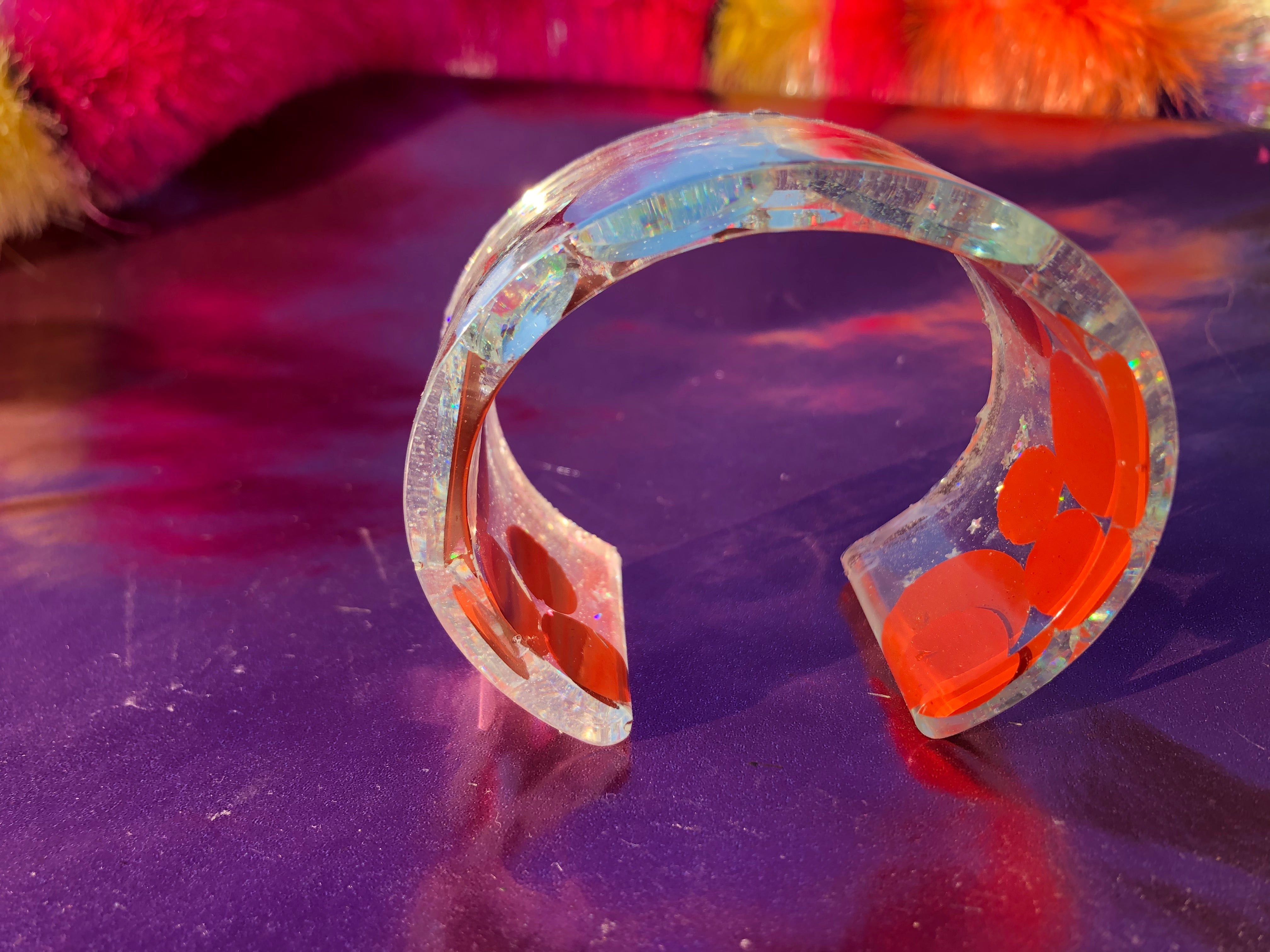 Resin sequin bangle