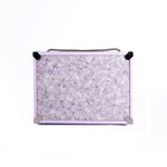 Rectangular Purple Laundromat Clutch Bag